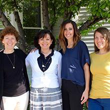 Janet Horn Schirtzinger, BA '74, MSSW 77; Debra Gonzales-Zauner, MSSW '82;  Aimee Miller Hay, BA '88; Amanda Zimmerman, BA '08