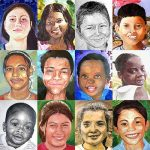 Collage of drawings of children